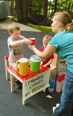 Ryan & Collin's lemonade stand, summer 2009