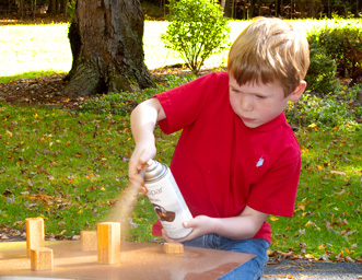 Ryan painting blocks