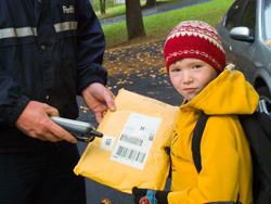Ryan receives his FedEx package, finally.