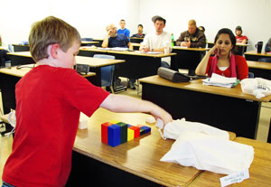 Ryan introduces Easy Builders to class