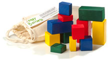 Easy Builders building block set - 12 blocks with carrying bag