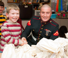 Ryan Steadman and Marine LCpl Danbach