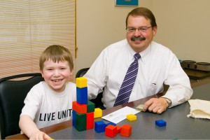 Ryan with Mr. Alan Hertel, Executive Director of United Way of Broome County.